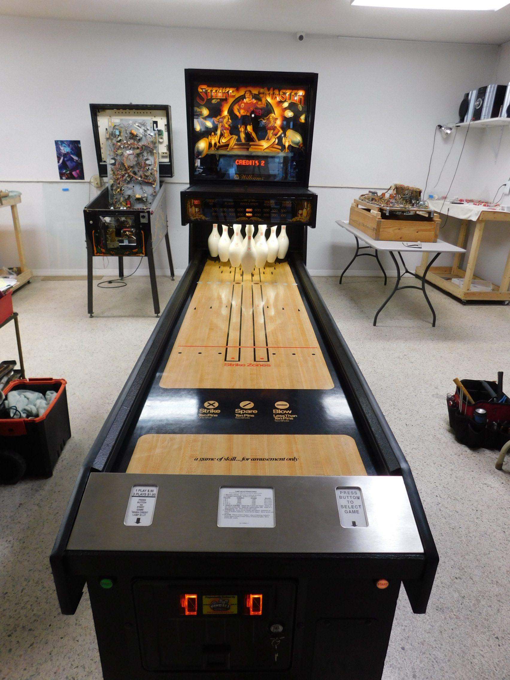 Pinball Restorations, Williams Strike Master shuffle alley bowler