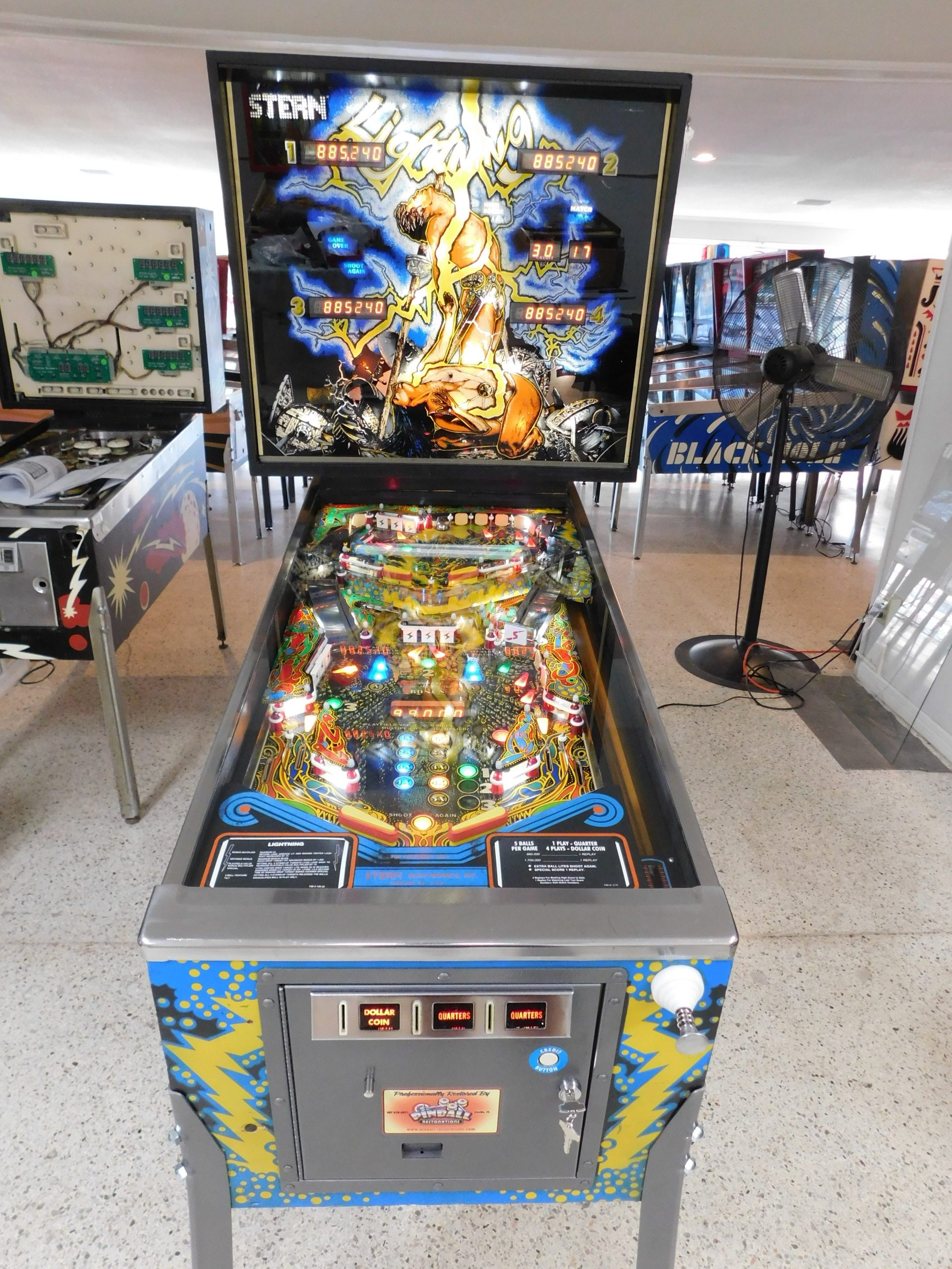 Pinball Restorations, Stern Lightning