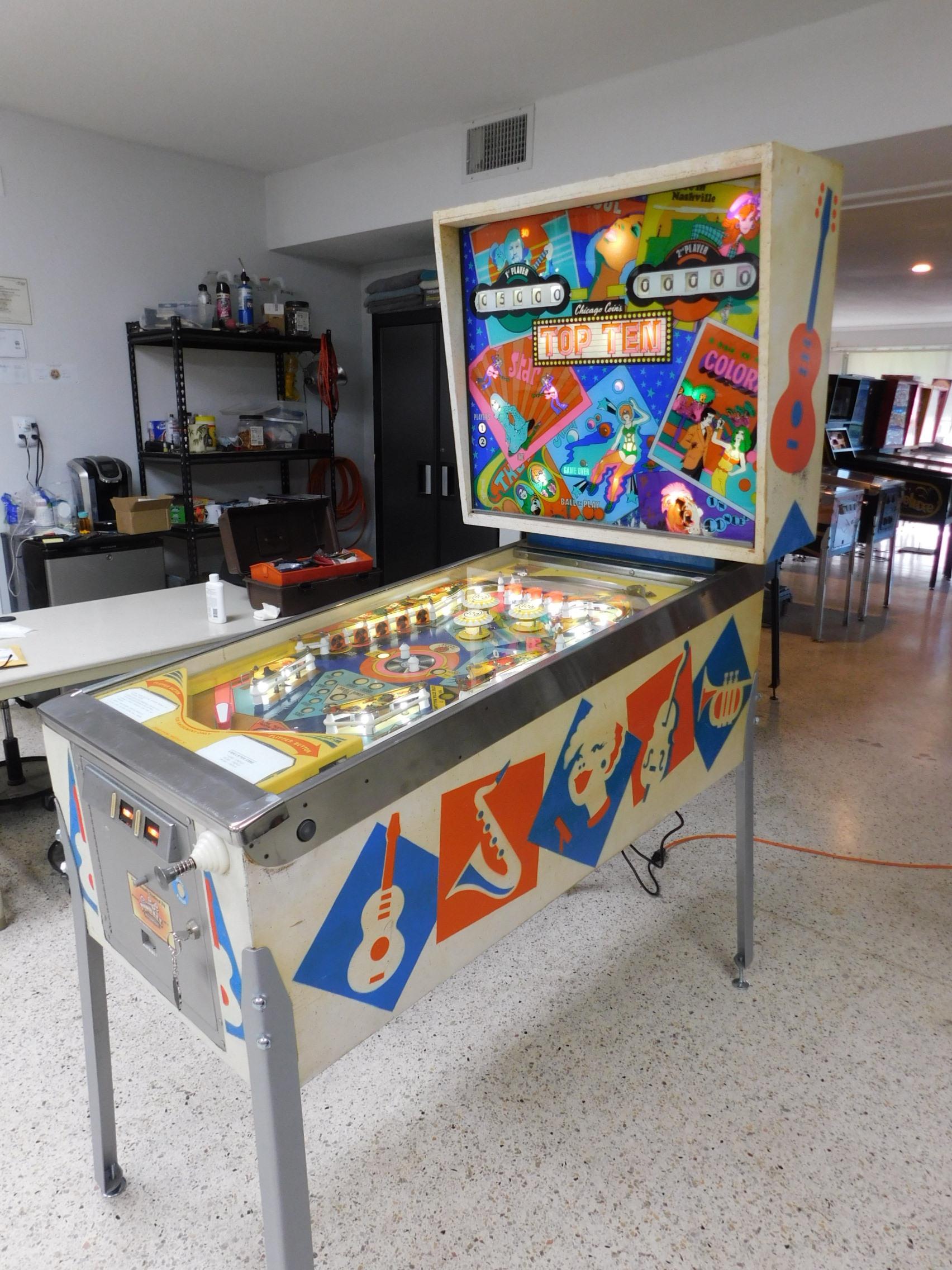 Pinball Restorations, Chicago Coin Top Ten