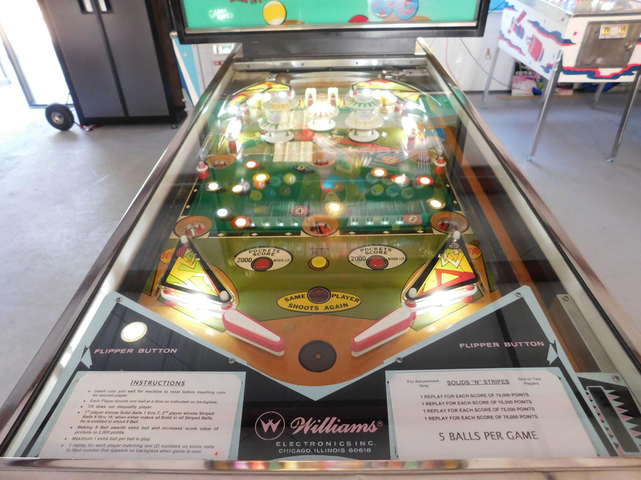 Pinball Restorations, Williams Solids N Stripes