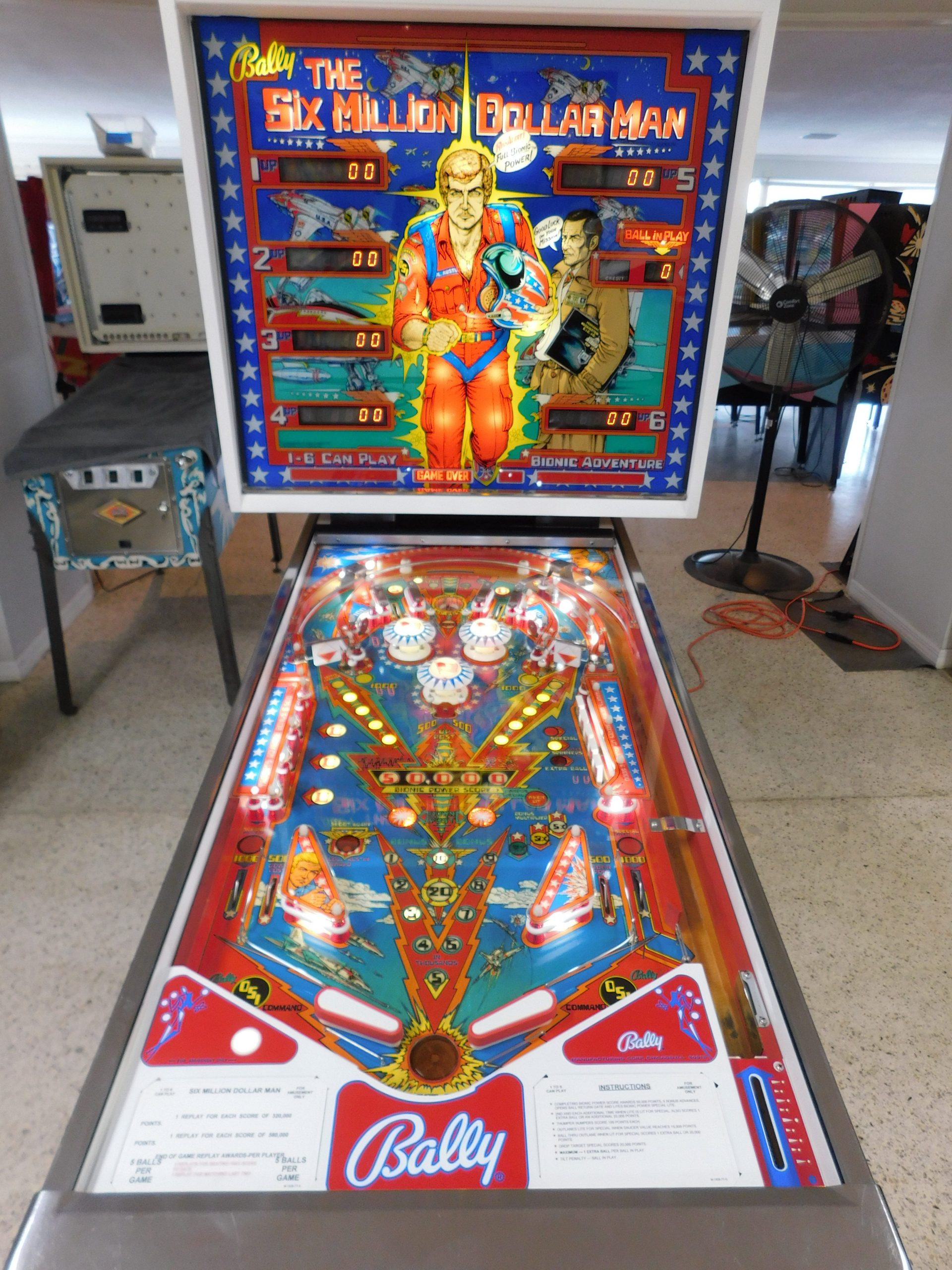 Pinball Restorations, Bally Six Million Dollar Man