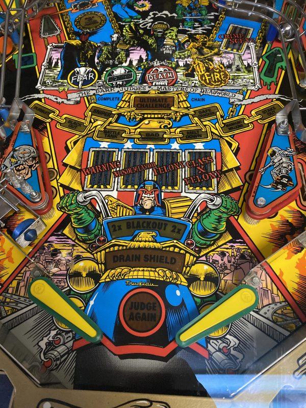 Pinball Restorations, Bally Judge Dredd