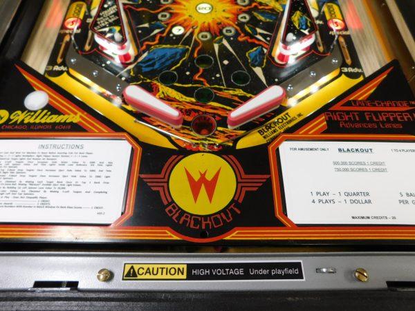 Pinball Restorations, Williams Blackout